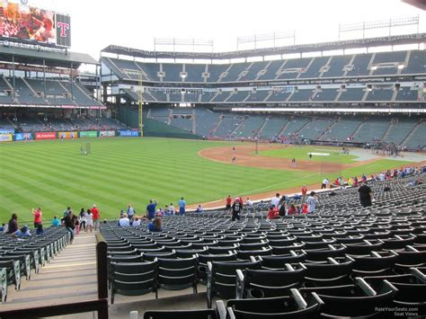 rangers sections globe life park section 112 rateyourseats com