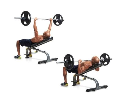 flat bench press exercise incline barbell bench press