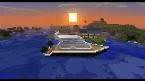 minecraft house boat minecraft modern yacht boat youtube