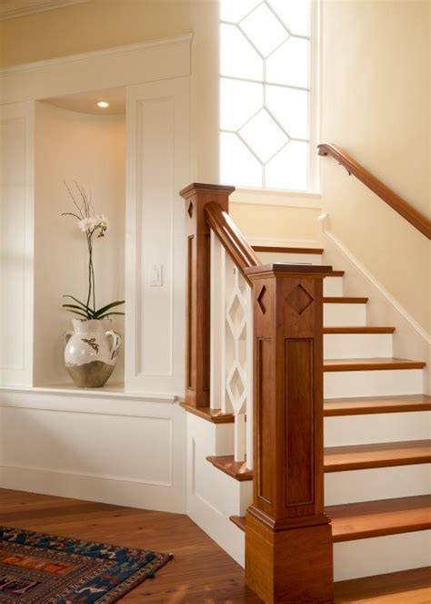 Transitional Furniture Styles - newel post and alcove stairways pinterest