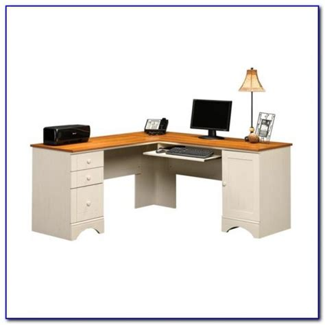 sauder harbor view computer desk and hutch sauder harbor view computer desk with hutch salt oak