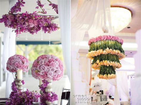 Wedding Flower Centerpieces by Suspended Wedding Centerpieces Floral Chandeliers