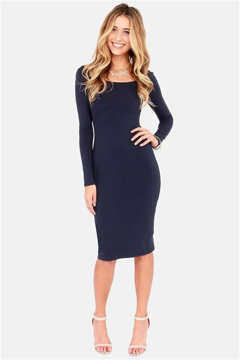 Dress 359 Cc stuck in the midi with you navy blue bodycon dress bodycon dress navy blue and navy