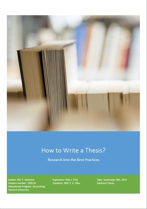 how to create a title page for your dissertation