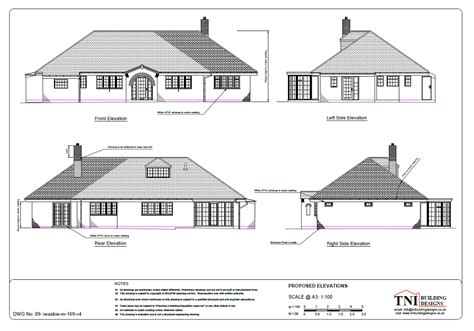 House Design Drawings Uk Bungalow Extension