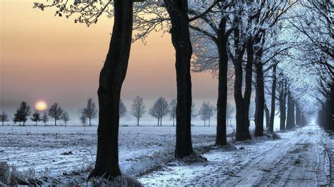 wallpaper  road decline frosts