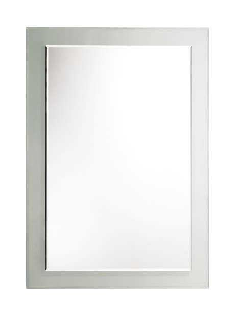 roper level bevelled mirror with clear glass frame