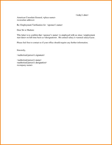 employment verification letter template 20 unique employment verification letter template word 1203