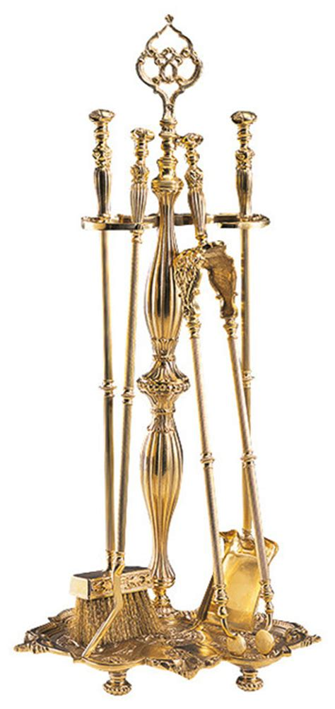 cast brass fireplace tools traditional fireplace