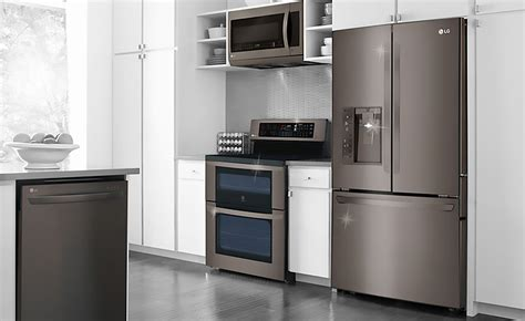 black stainless steel appliances are a kitchen must