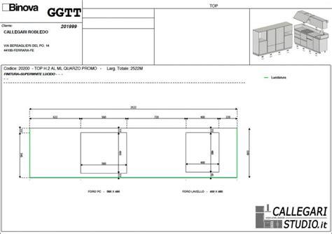 altezza cappa dal piano cottura dettaglio progetto callegari studio