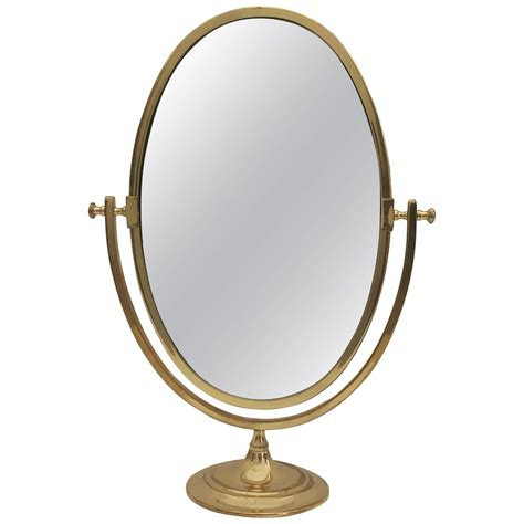 Oval Vanity Mirrors oval brass vanity mirror at 1stdibs