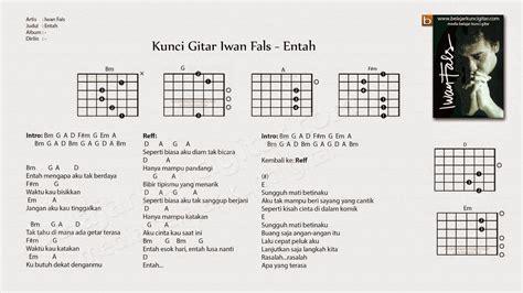 tutorial kunci gitar akustik tutorial gitar iwan fals bento kunci lagu lirik chord
