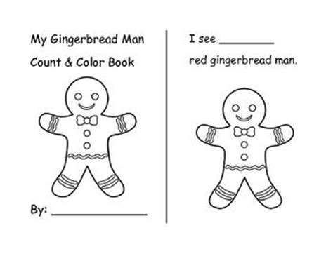 printable gingerbread man book contests