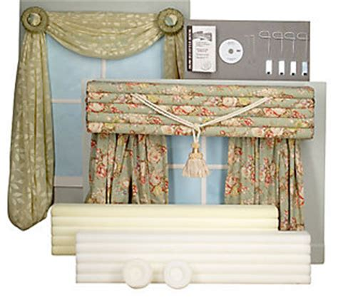 Deco Wrap Cornices deco wrap set of 2 no sew cornices w rosette swags qvc