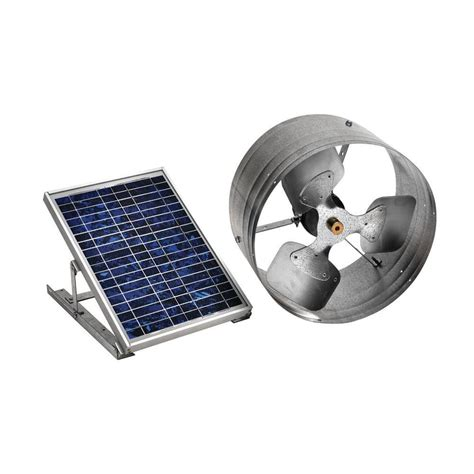 air vent 18 in dia electric gable vent fan master flow 500 cfm solar powered gable mount exhaust fan