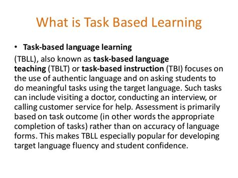 task based tbl task based learning