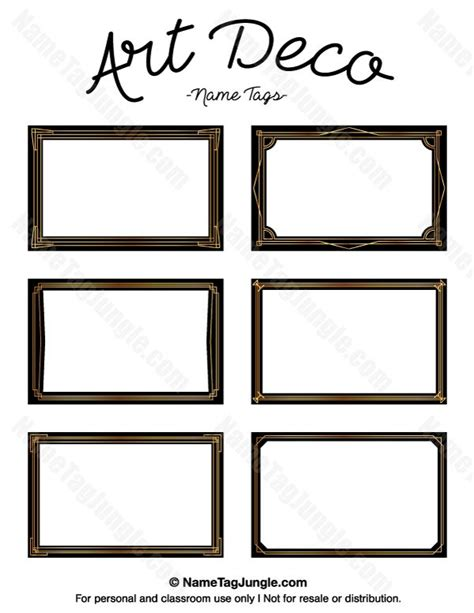 deco templates free free printable deco name tags the template can also