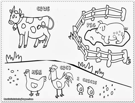Farm Animal Coloring Pages Realistic Coloring Pages Farm Animals Coloring Pages