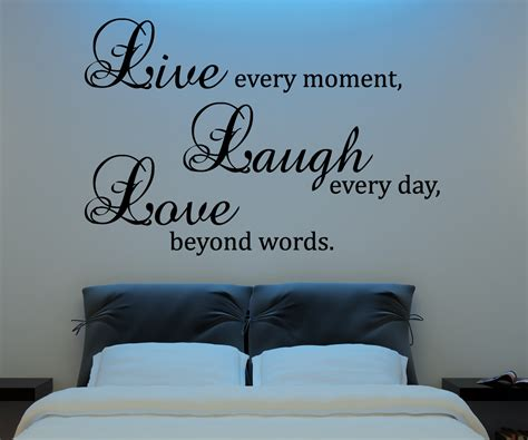 bedroom wall decor quotes live laugh love wall decal vinyl sticker quote art living room dining room decor on luulla