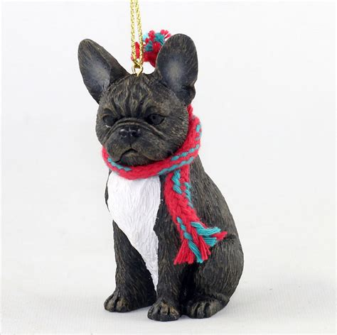french bulldog dog christmas ornament scarf figurine ebay