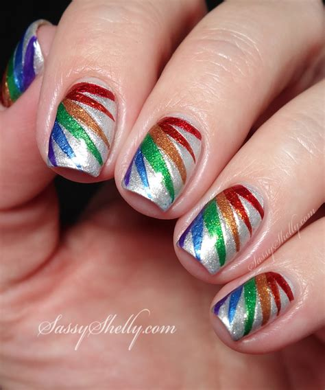 tutorial nail art rainbow digit al dozen new improved diy nail polish decals