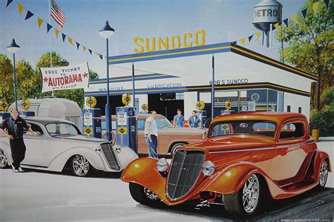 sold print road to ridler signed by chip foose cars