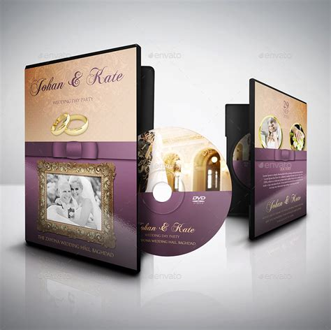 wedding dvd layout wedding dvd cover and label template bundle vol 1 by
