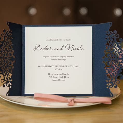 blue wedding invitations cheap at wedding invites