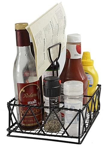 condiment caddy for tables 4 table caddies with large compartment