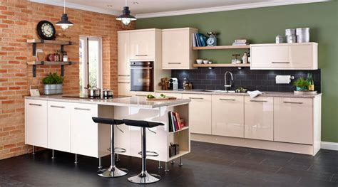 cooke and lewis kitchen cabinets cooke lewis high gloss cream kitchen contemporary