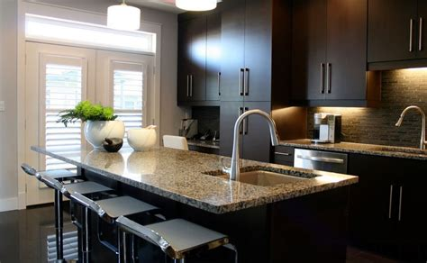 chocolate kitchen cabinets contemporary kitchen cabinets for a posh and sleek finish
