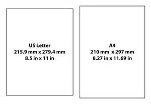 what s the difference between a4 and us letter paper