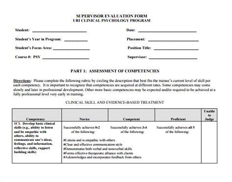 sle supervisor evaluation 10 exle format