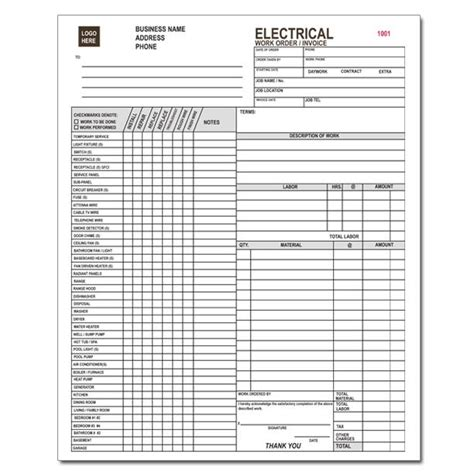 download electrical contractor invoice template free