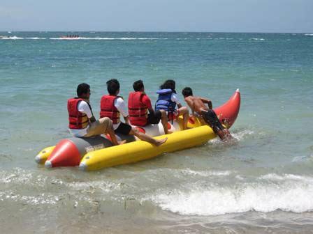 banana boat ride at baga beach banana ride atlantis water sports
