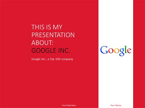google inc powerpoint template red presentationgo com