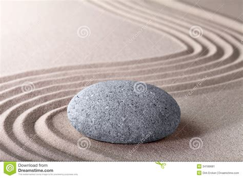 zen garden and sand pattern tranquil relax stock
