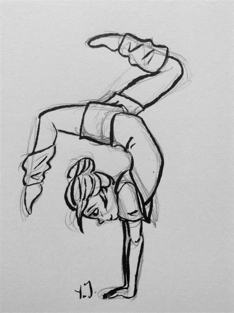 drawing ideas drawing skills pinterest girls gymnastics girl sketch by yenthe joline drawings and