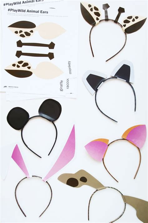 animal templates for crafts free printable zoo animal ears template and activity