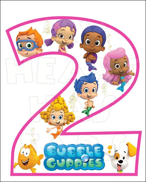 bubble guppies printable iron on bubble guppies 2nd birthday instant download digital clip