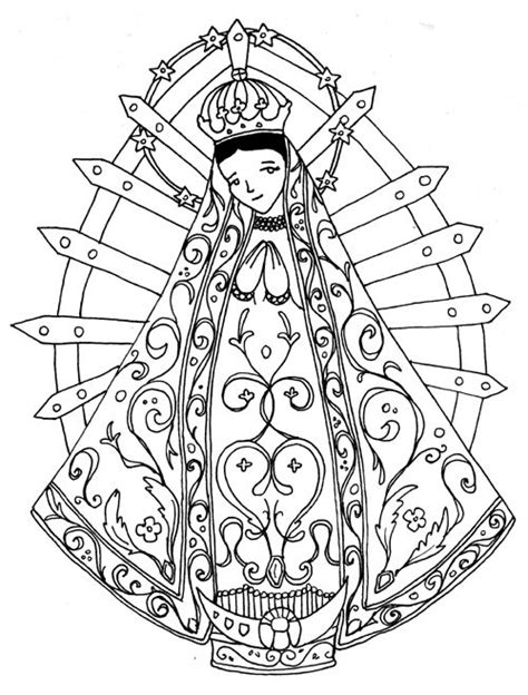 virgen de guadalupe coloring pages coloring home