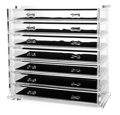 Jewelry Drawer Liner by Deluxe 7 Drawer Acrylic Jewelry Chest Or Cosmetic