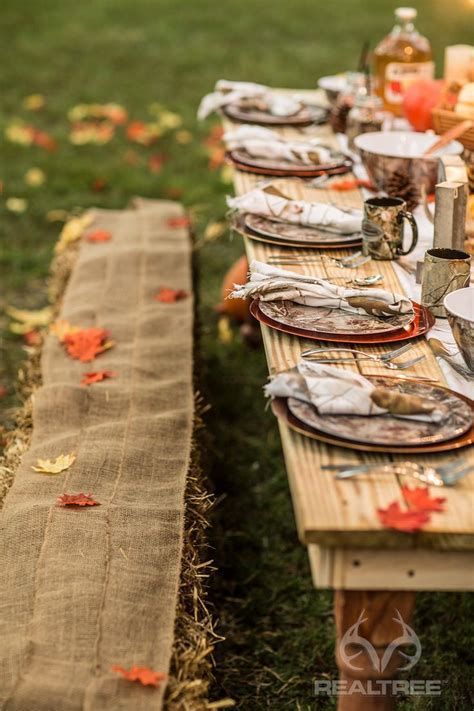 Realtree Camo Harvest Table Decoration #Realtreelife #