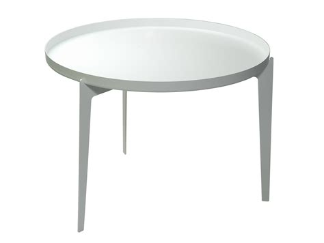 painted metal coffee table tray illusion by covo design