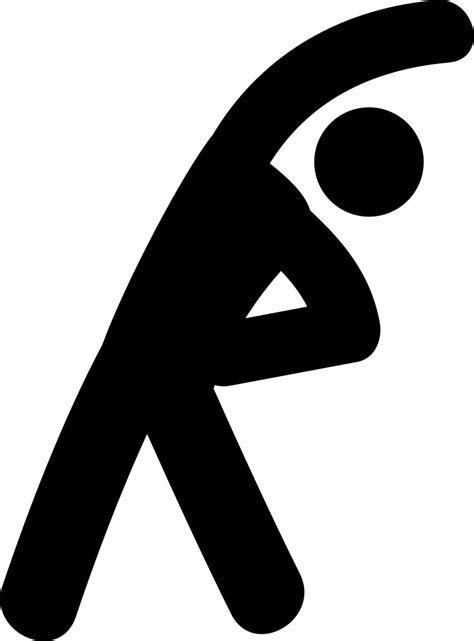 stretching exercises svg png icon
