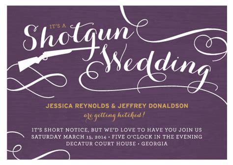 shotgun wedding invitations wedding invitations shotgun wedding at minted