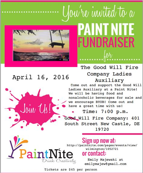 paint nite boston fundraiser events city of new castle new castle county delaware