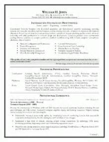 writing a good information technology resume - Information Technology Resume Template