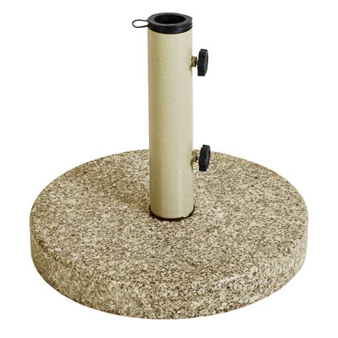Astonica Taupe Round Granite Patio Umbrella Stand Base Ebay Patio Umbrella Stand Base
